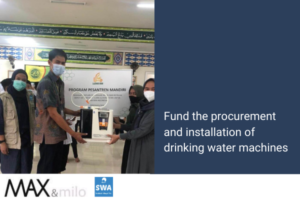 MAX & MILO Fund the procurement and installation of drinking water machines